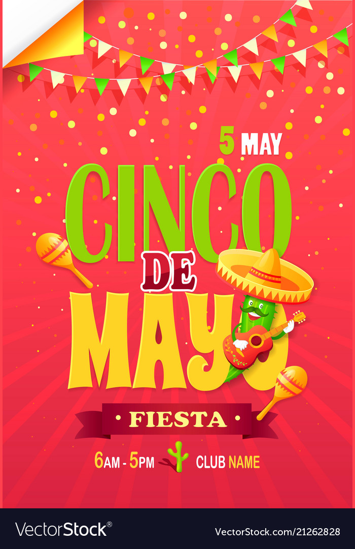 Cinco de may fiesta bright promotional poster