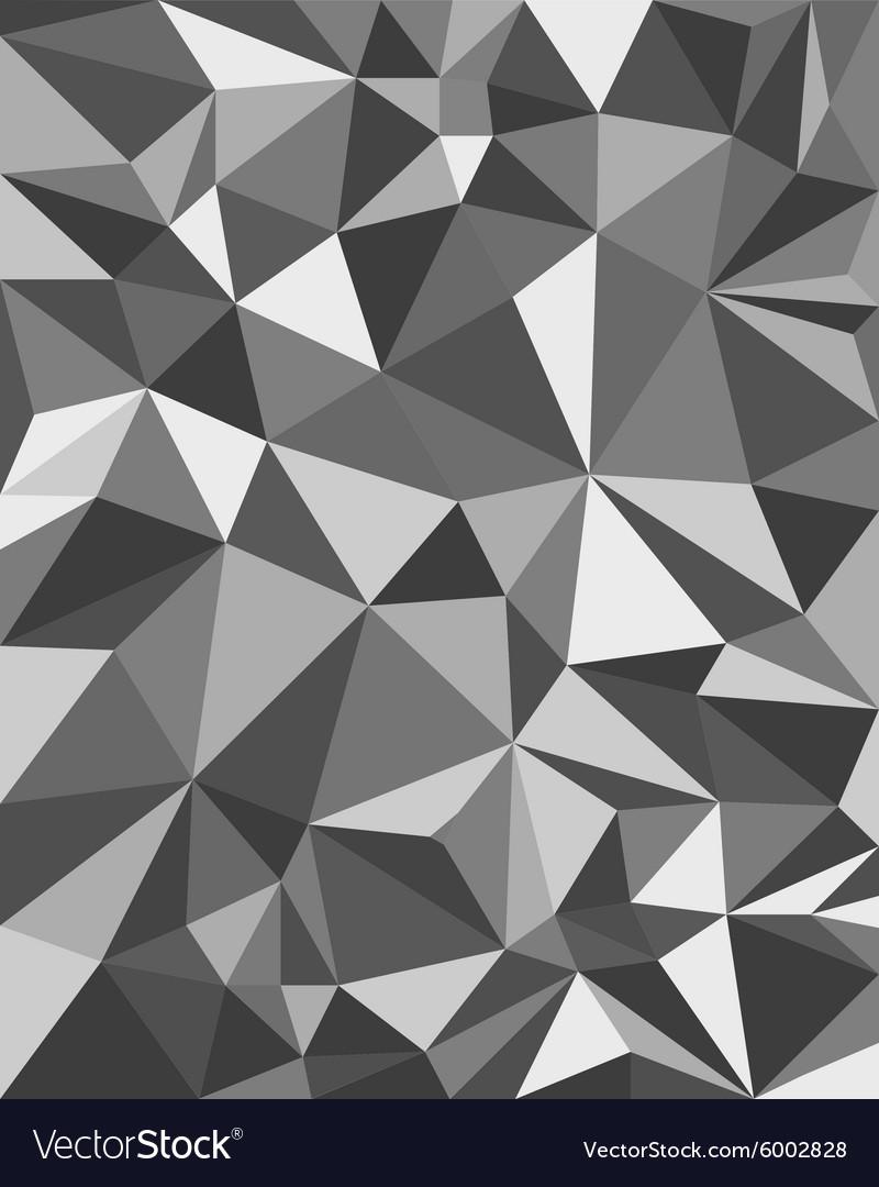 Grey Triangles - Geometric Background Polygonal
