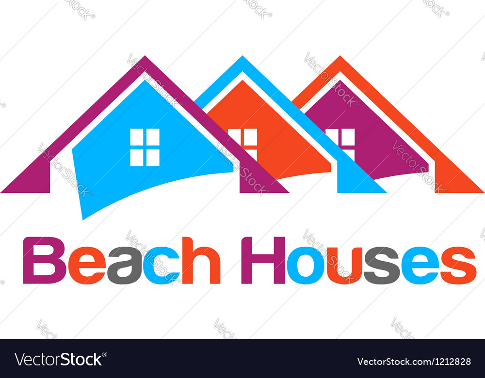 Happy houses vector image