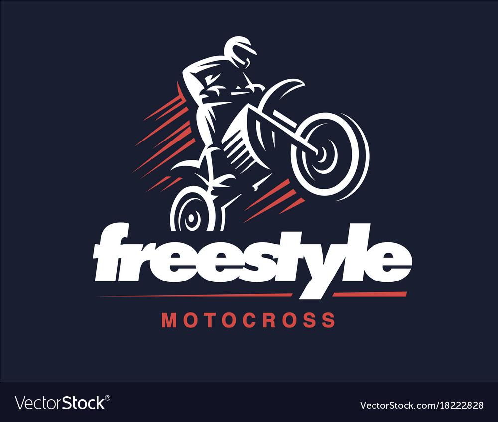 Motorcycle logo motocross freestyle