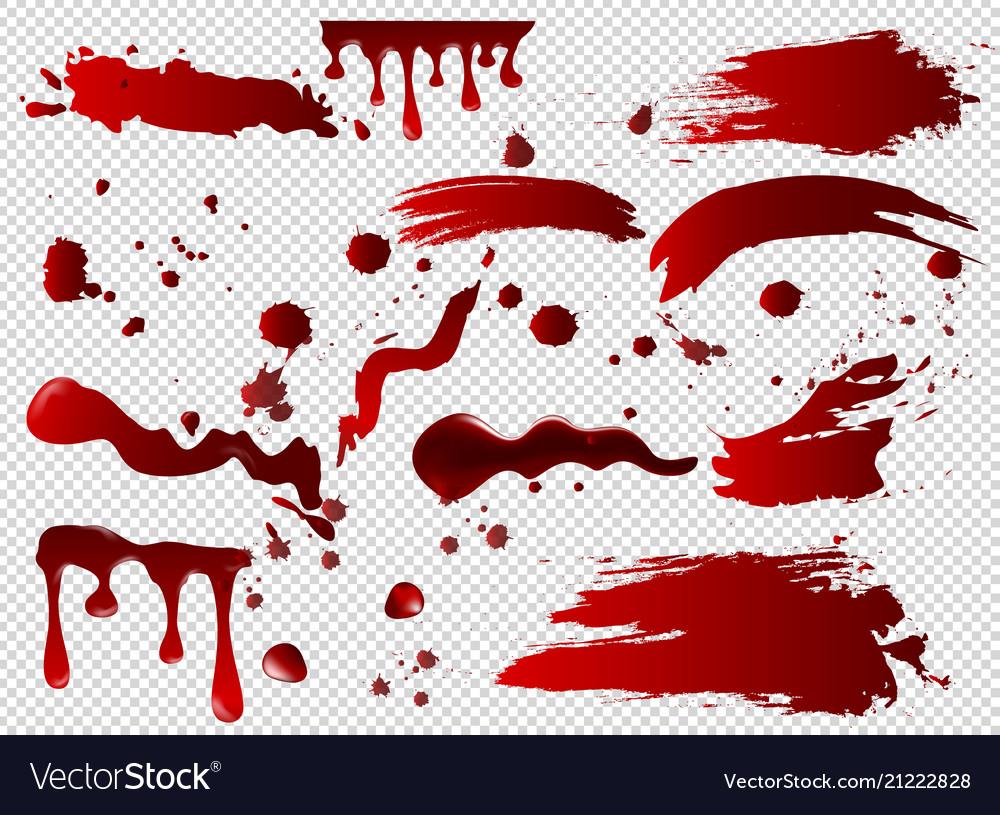 Set of blood spots smears