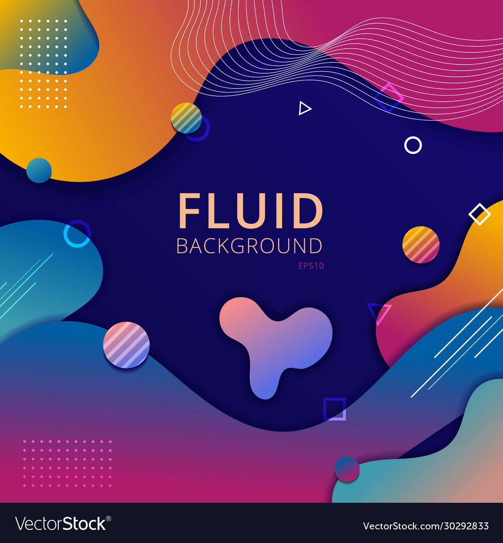 Abstract background fluid shape vibrant gradient