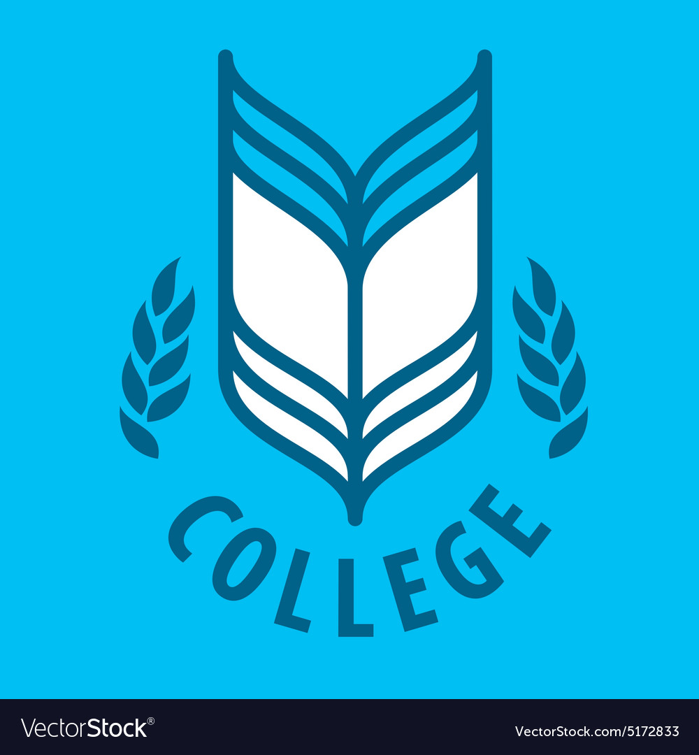 Abstract logo Book for College
