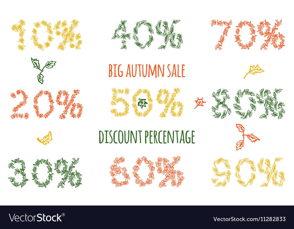 Autumn sale by leaves pattern