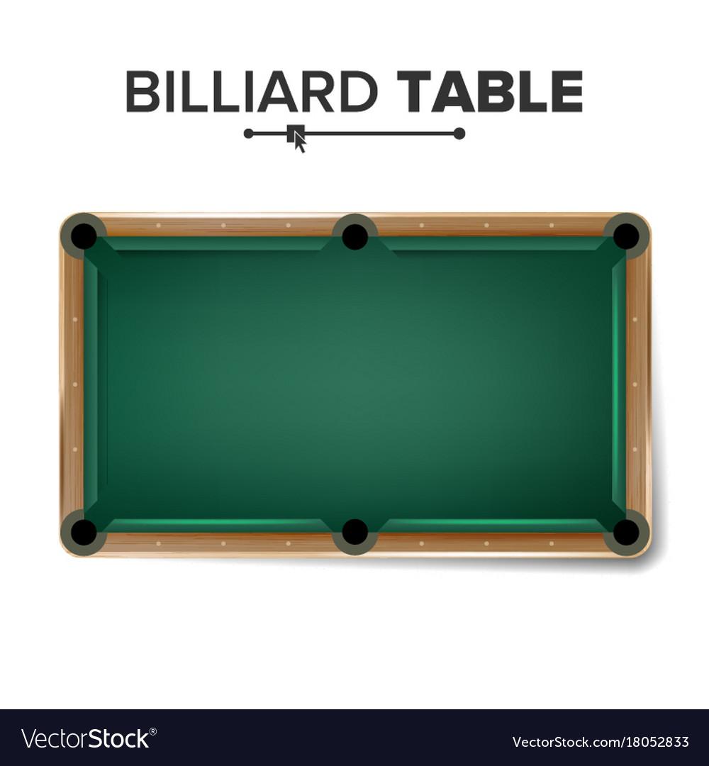 Billiard Table Classic Green Pool Table Royalty Free Vector - Classic billiard table