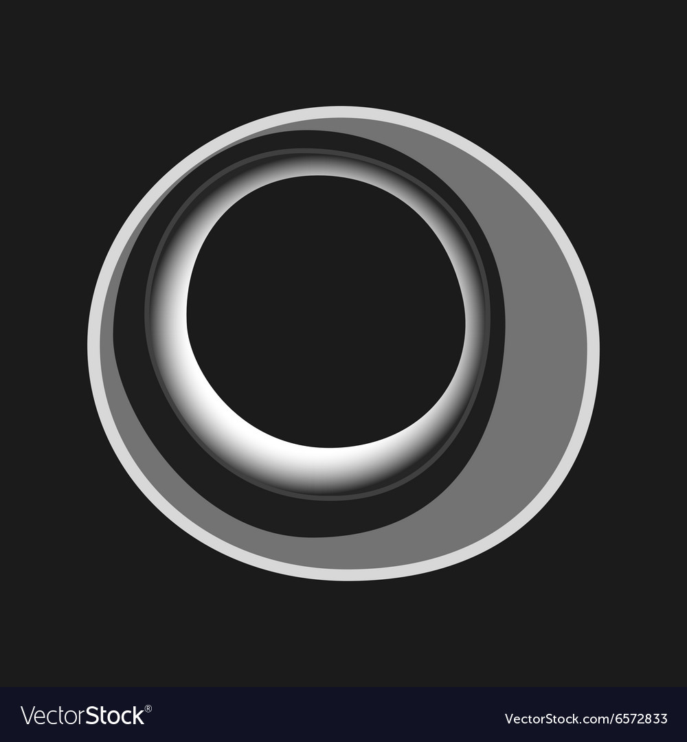 Black white abstract circles for cover