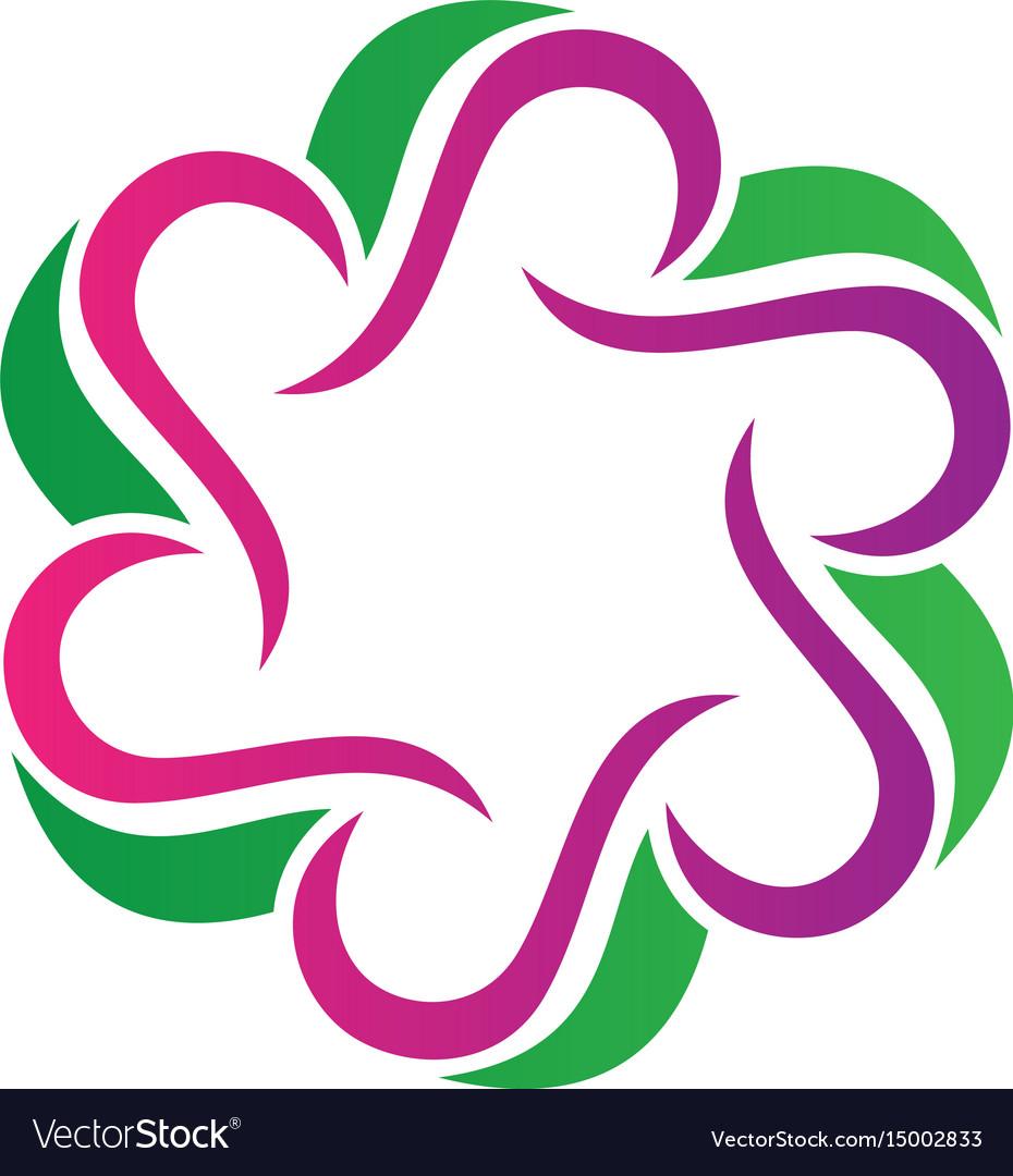 Circle abstract round logo image vector image