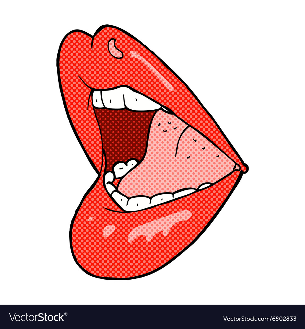 Comic cartoon open mouth vector image