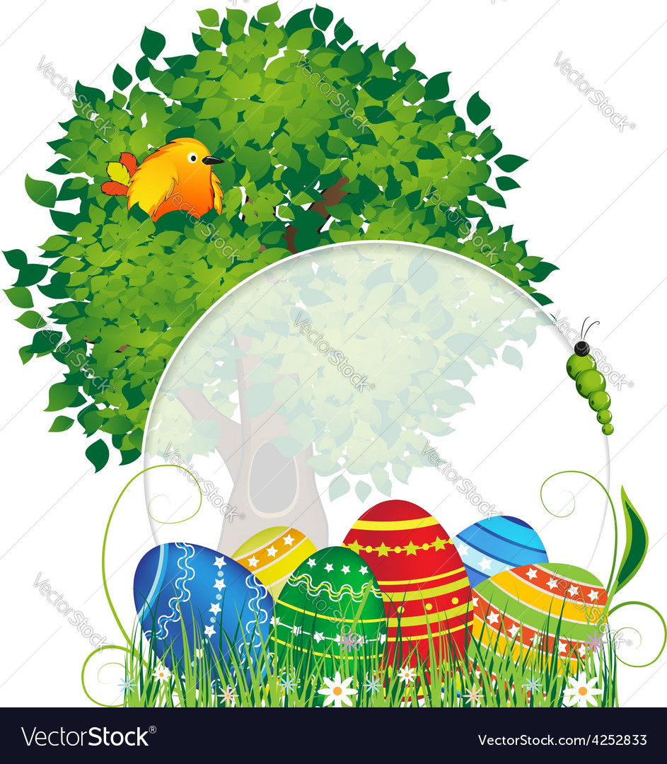 Easter natural background vector image