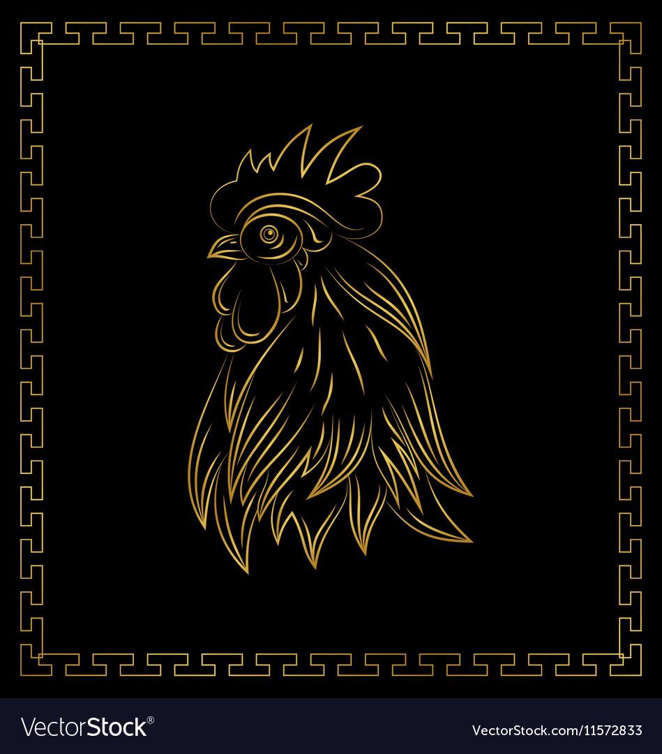 Golden cock chinese calendar symbol 2017 year
