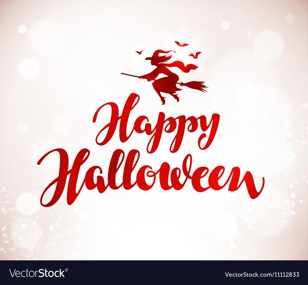 Happy Halloween banner Beautiful handwritten