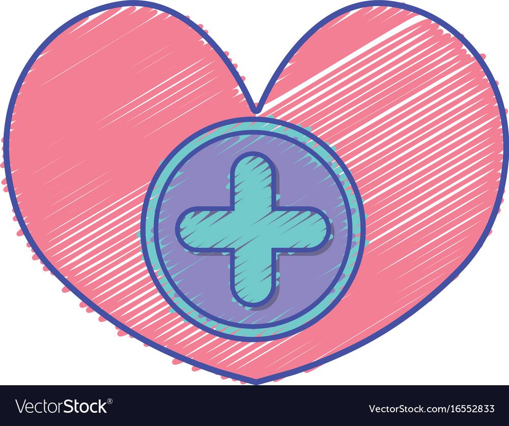 Medicine symbol to help the people vector image
