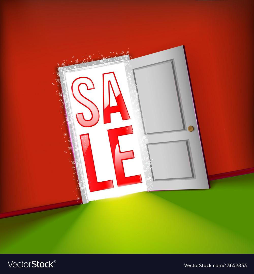 Open door bright sale concept