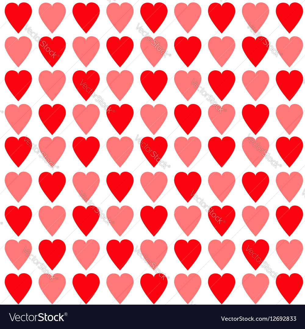 Red and pink heart set Seamless Pattern Wrapping