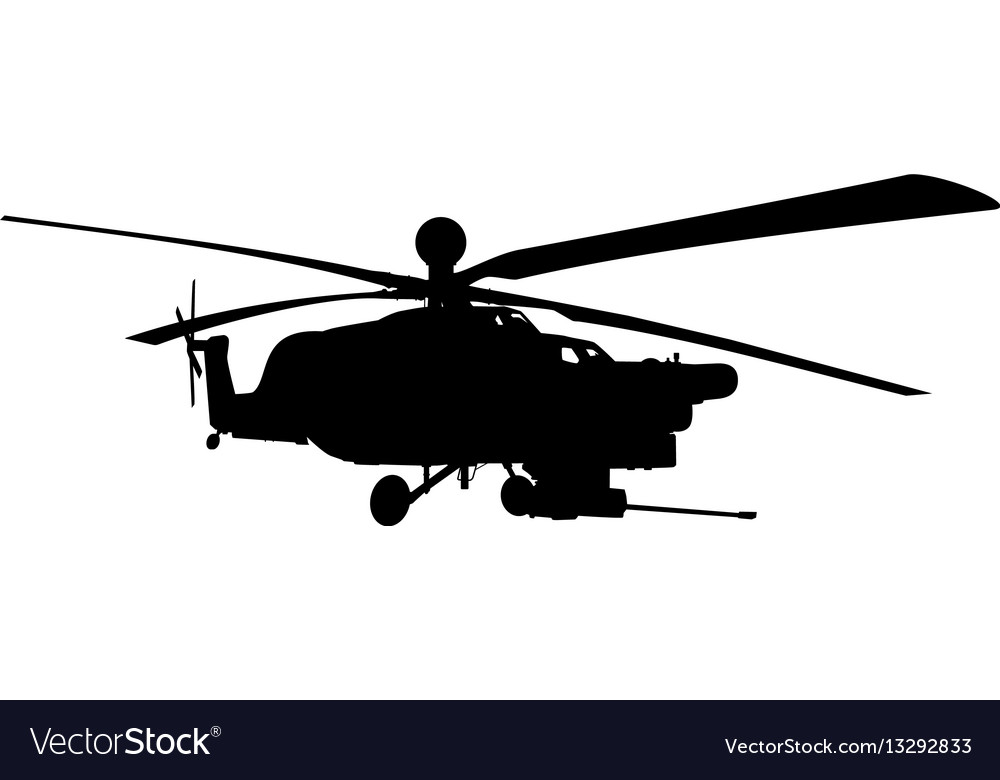 Russian military helicopter vector image