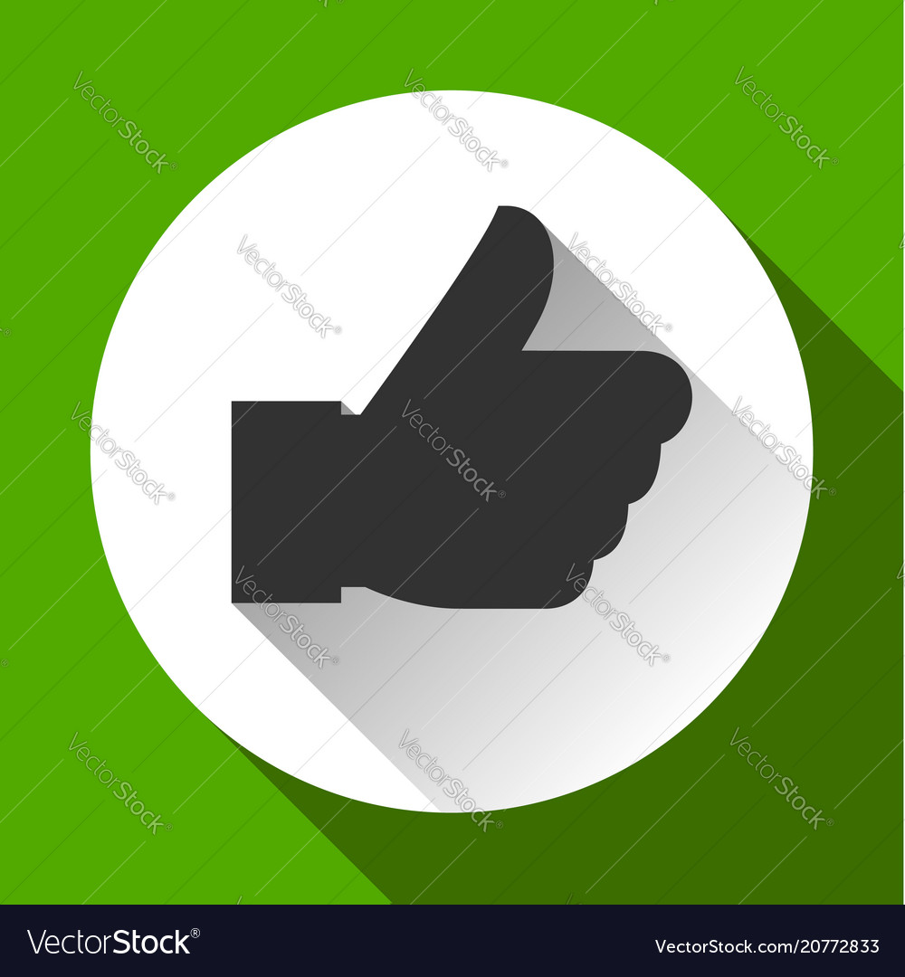 Thumbs up white round buttons