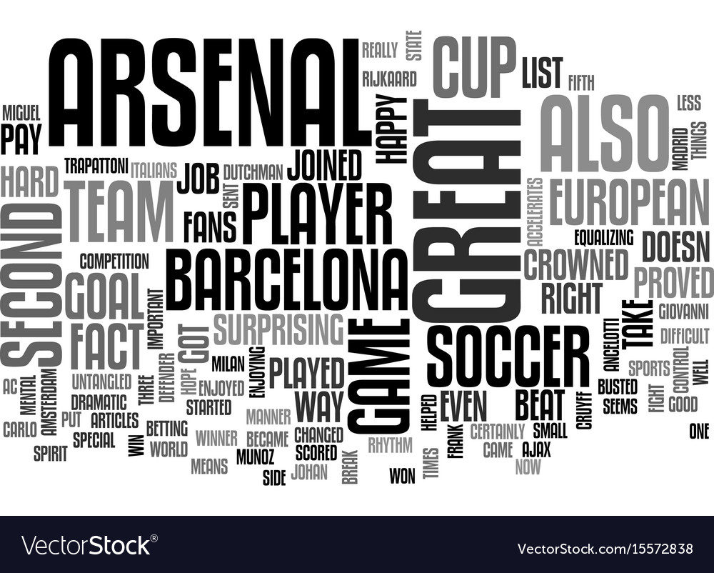 Arsenal put up a good fight text word cloud