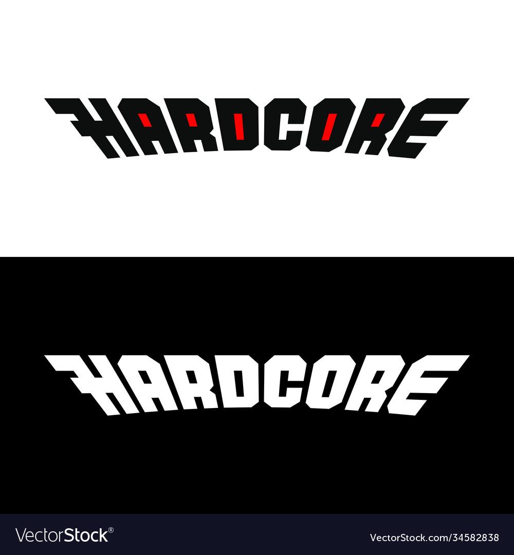 Hardcore word stylized logo text symbol for