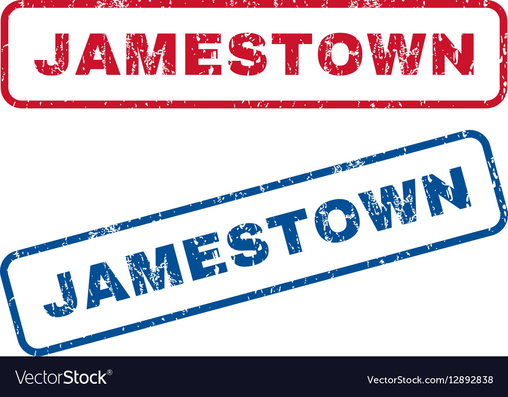 Jamestown Rubber Stamps Vector Image