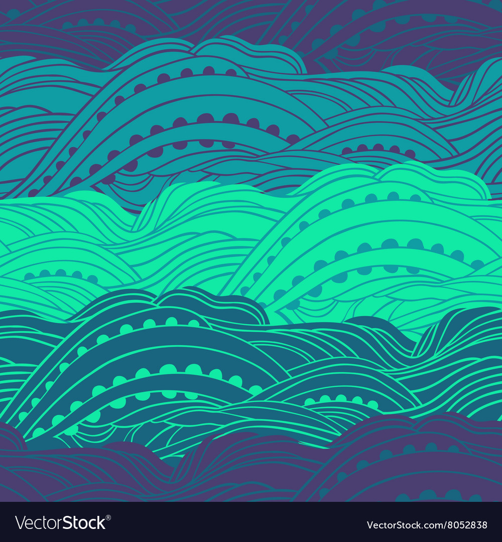 Pattern Sea Waves vector image