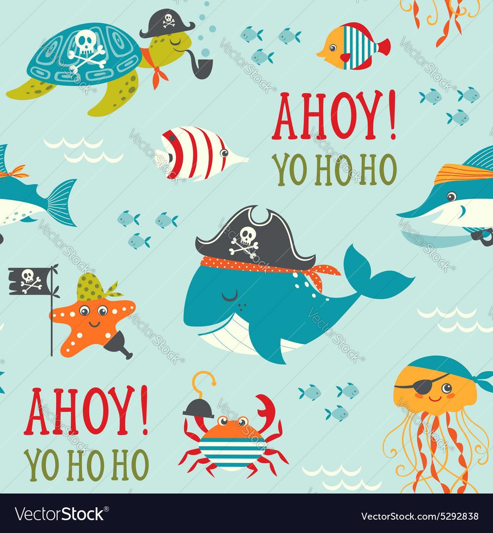 Undersea pirates pattern