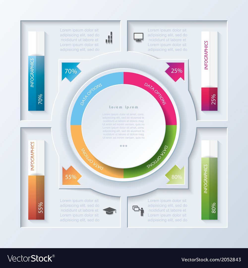 Abstract design infographic