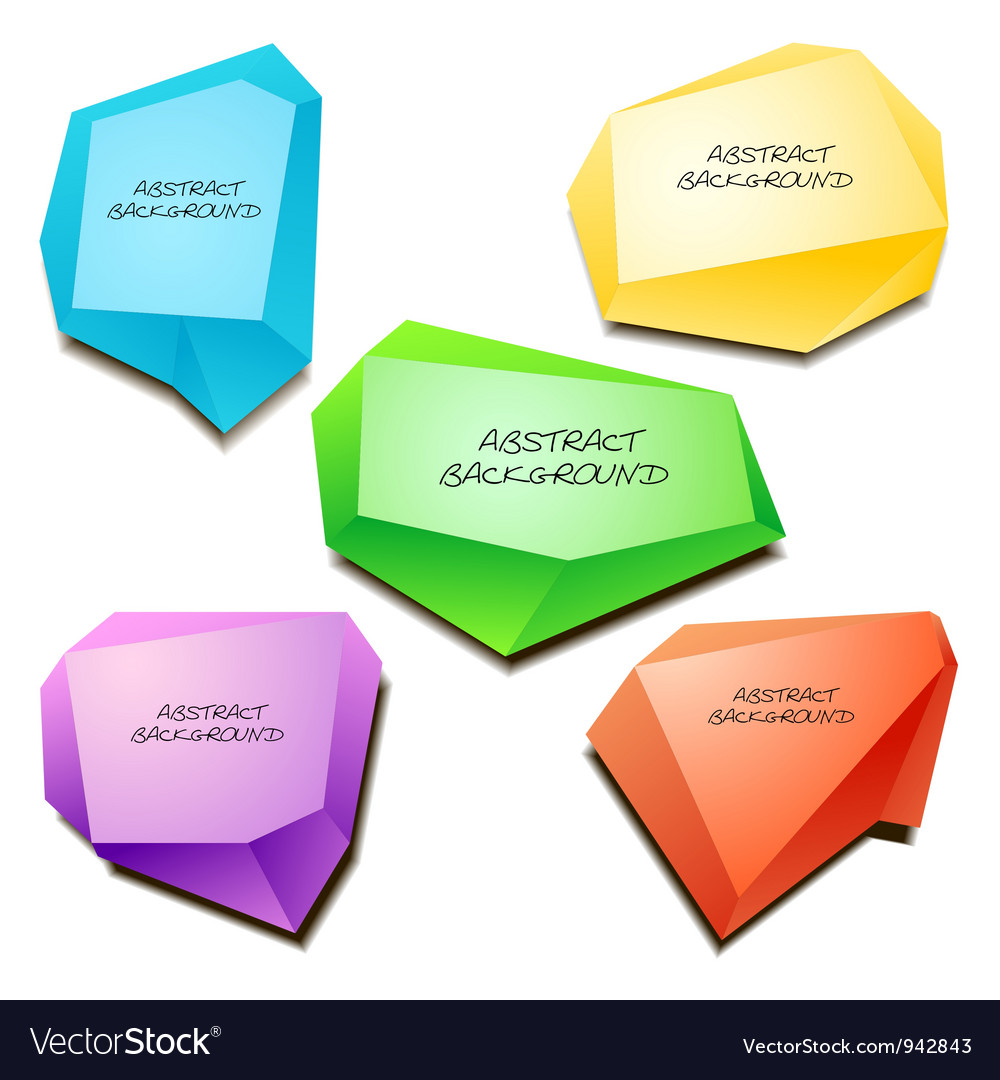 Abstract origami background vector image