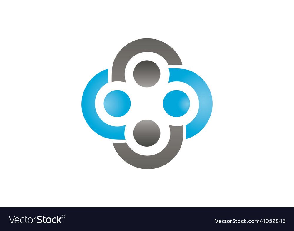 circle group teamwork abstract logo royalty free vector rh vectorstock com royalty free logo sounds royalty free logos letter a