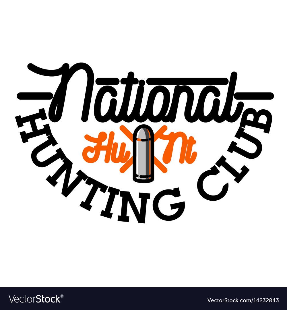 Color vintage hunting club emblem