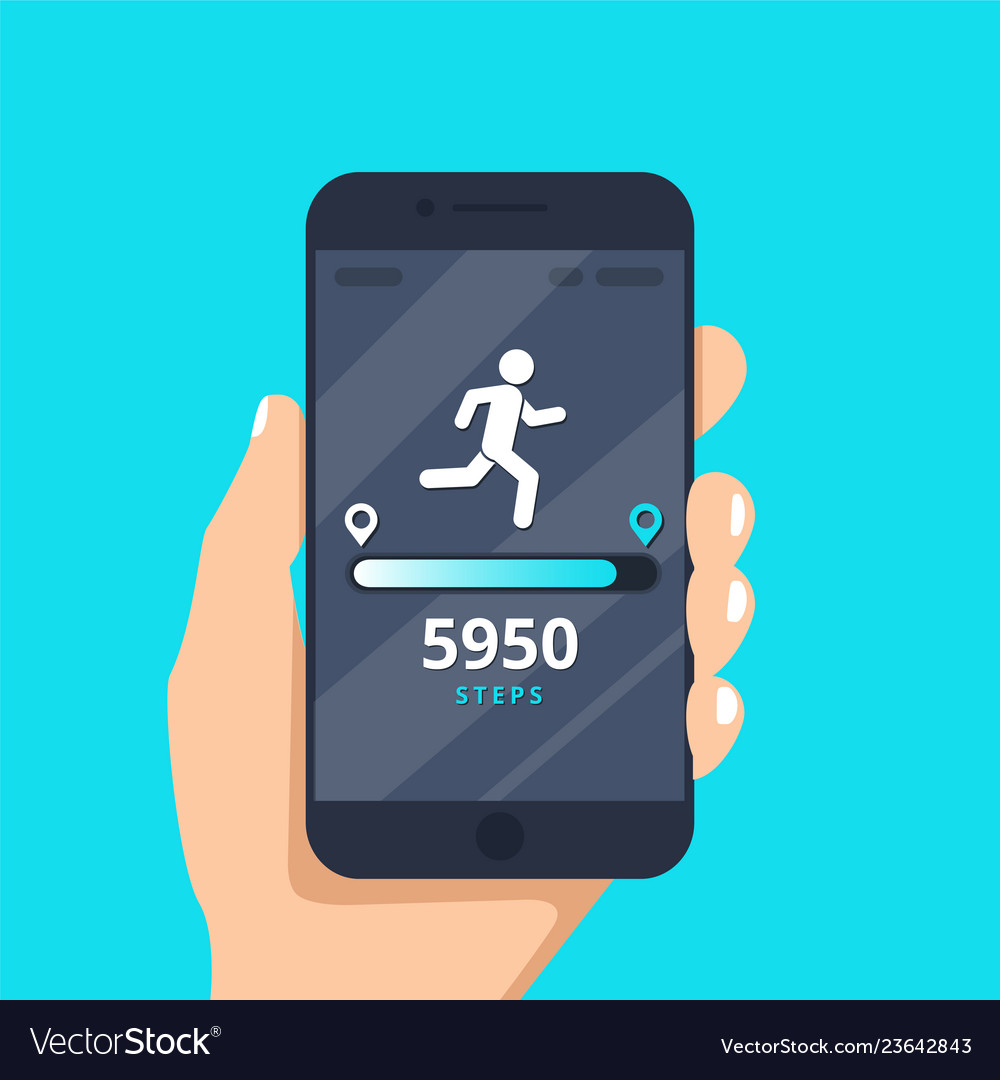 Fitness tracking app on mobile phone screen