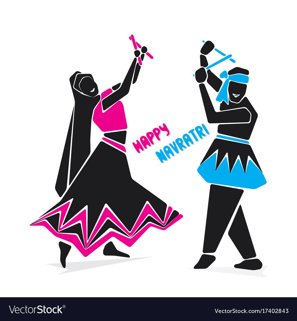 Happy navratri festive poster