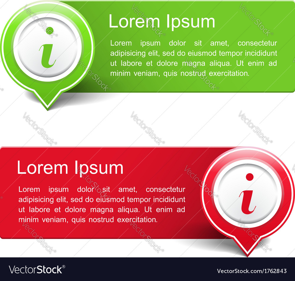 Information Banners vector image
