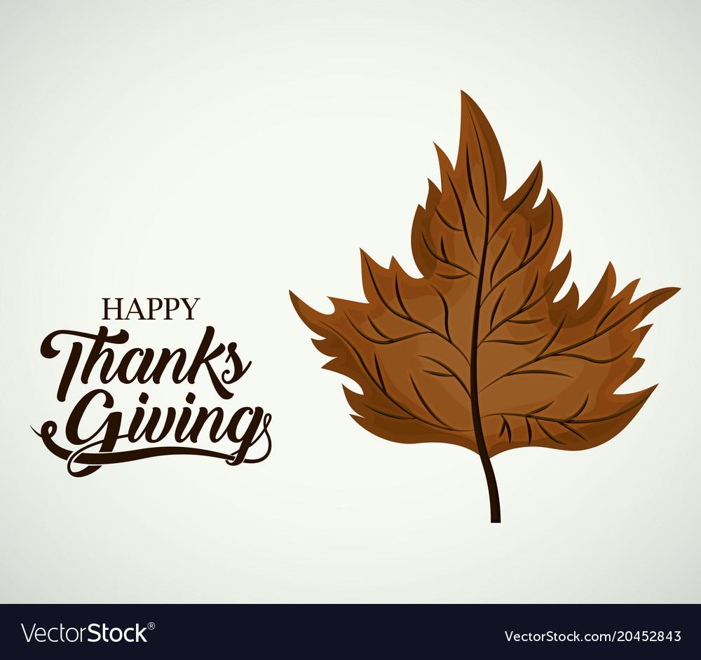 Leaf of thanks given design