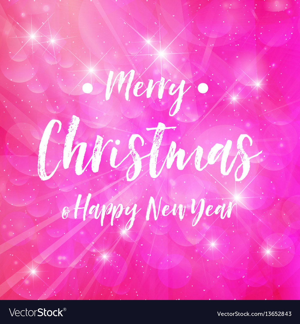 Merry christmas - pink background sparkle
