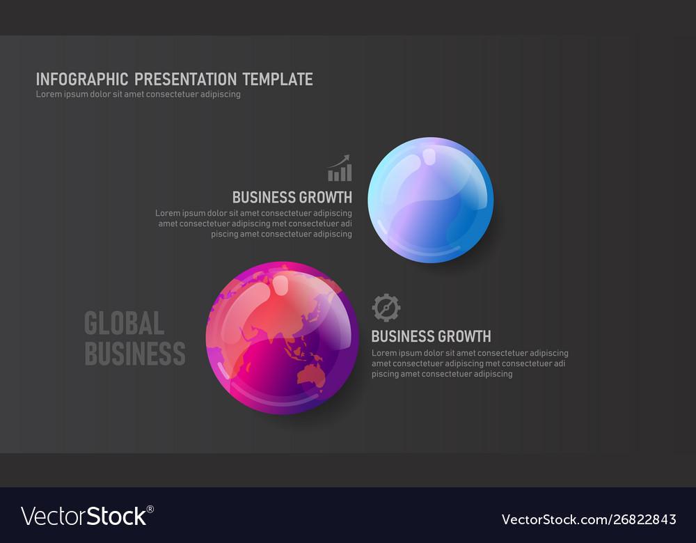 World map globe business infographic presentation