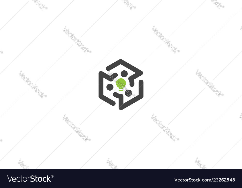 Abstract digital technology logo icon