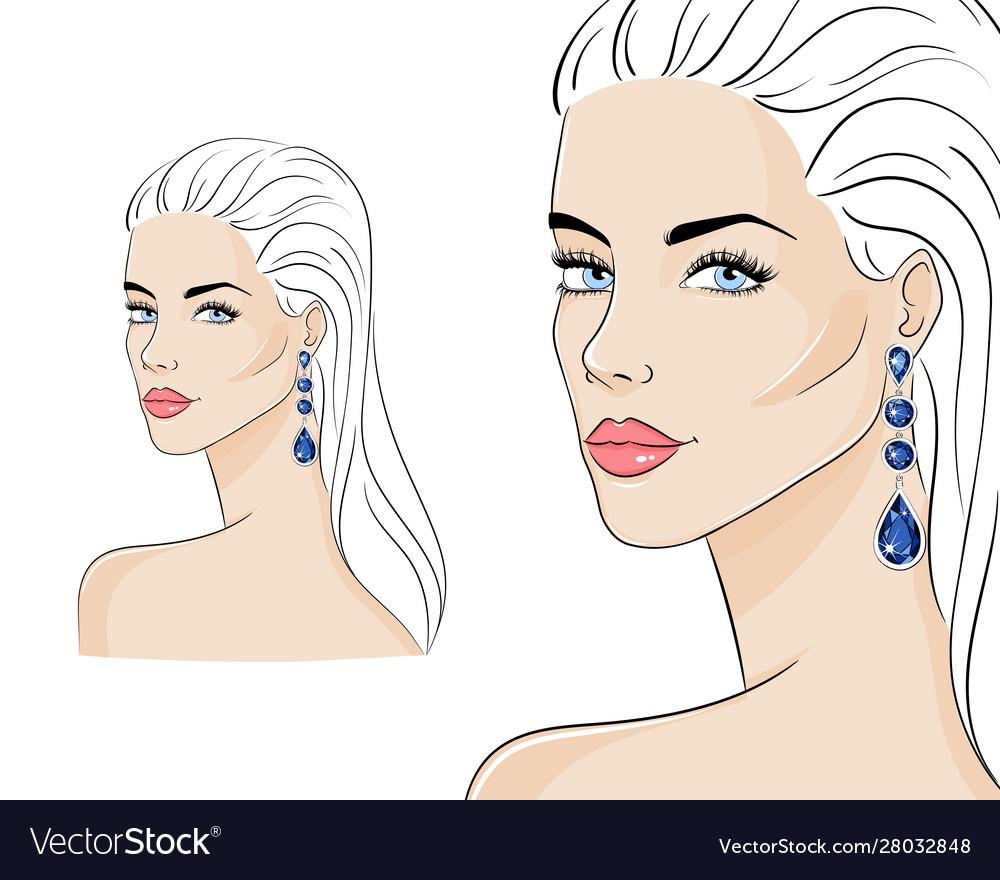 Beautiful woman wearing luxury jewelry