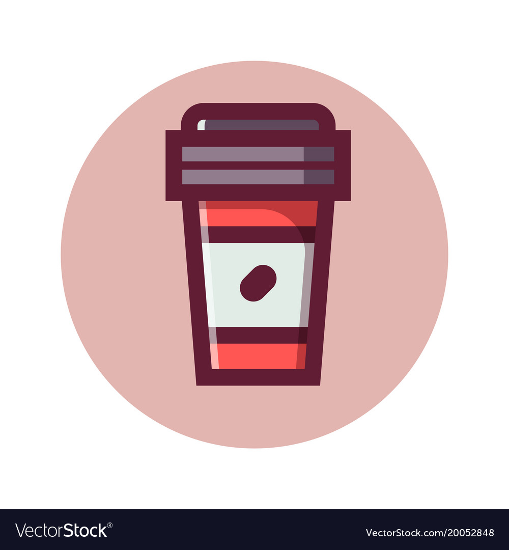 Coffee to go isolated icon