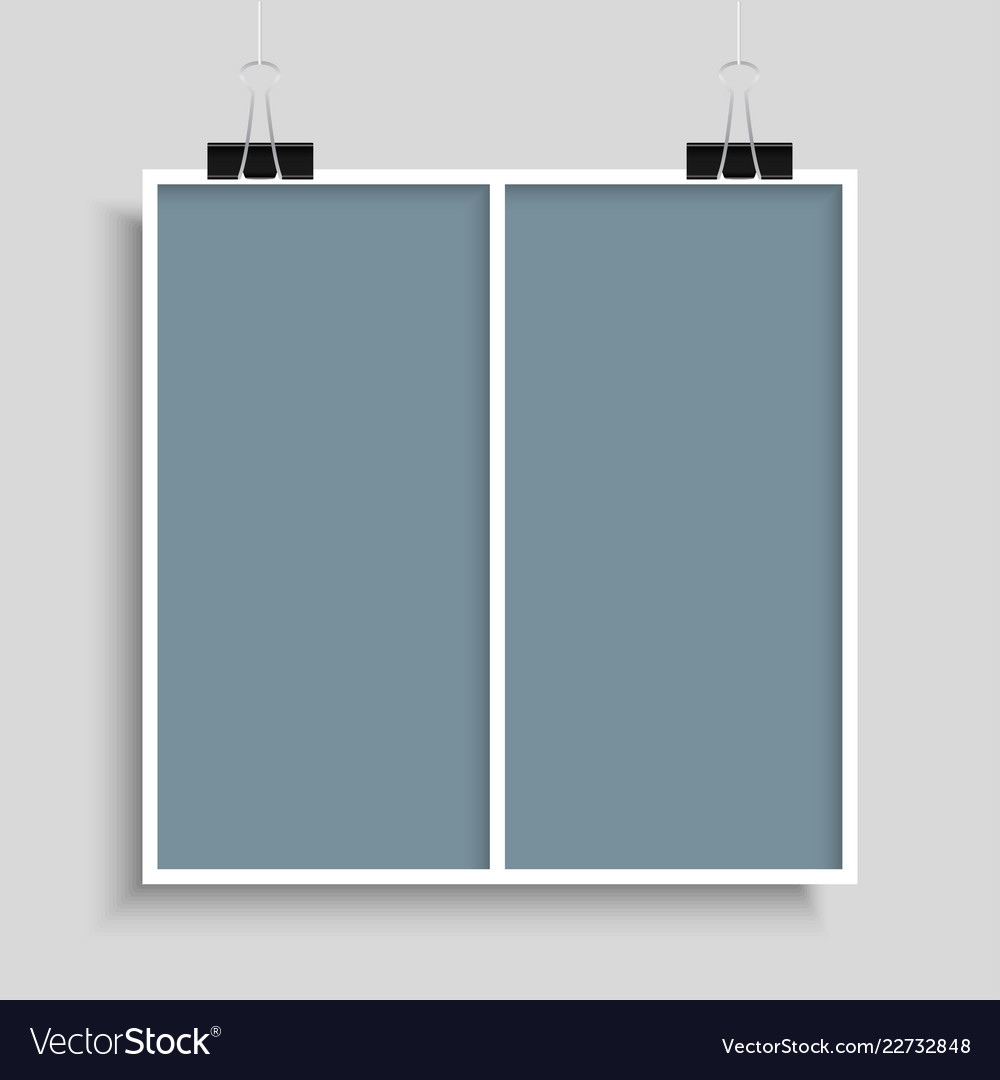 Collage Two Frames For Photo Or Royalty Free Vector Image