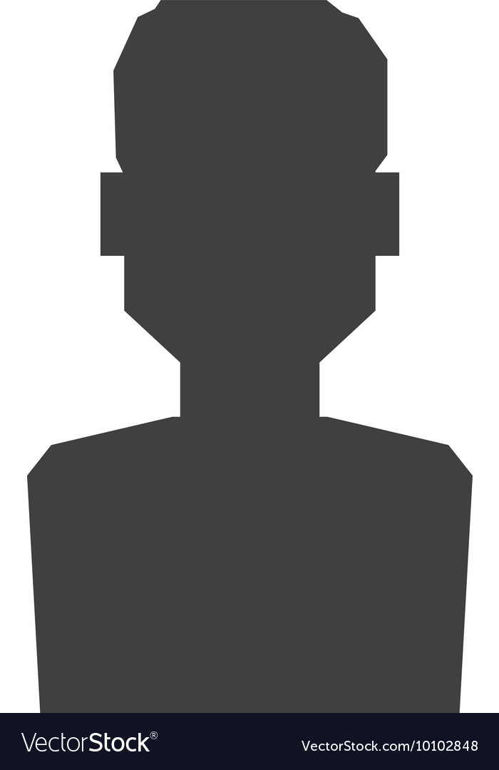 Man silhouette male avatar person people icon