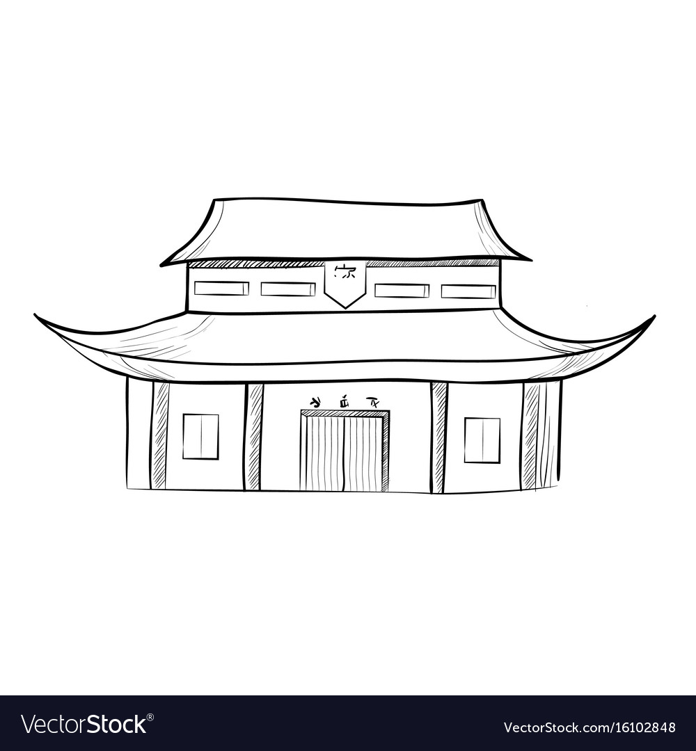 Sketch of the traditional chinese house