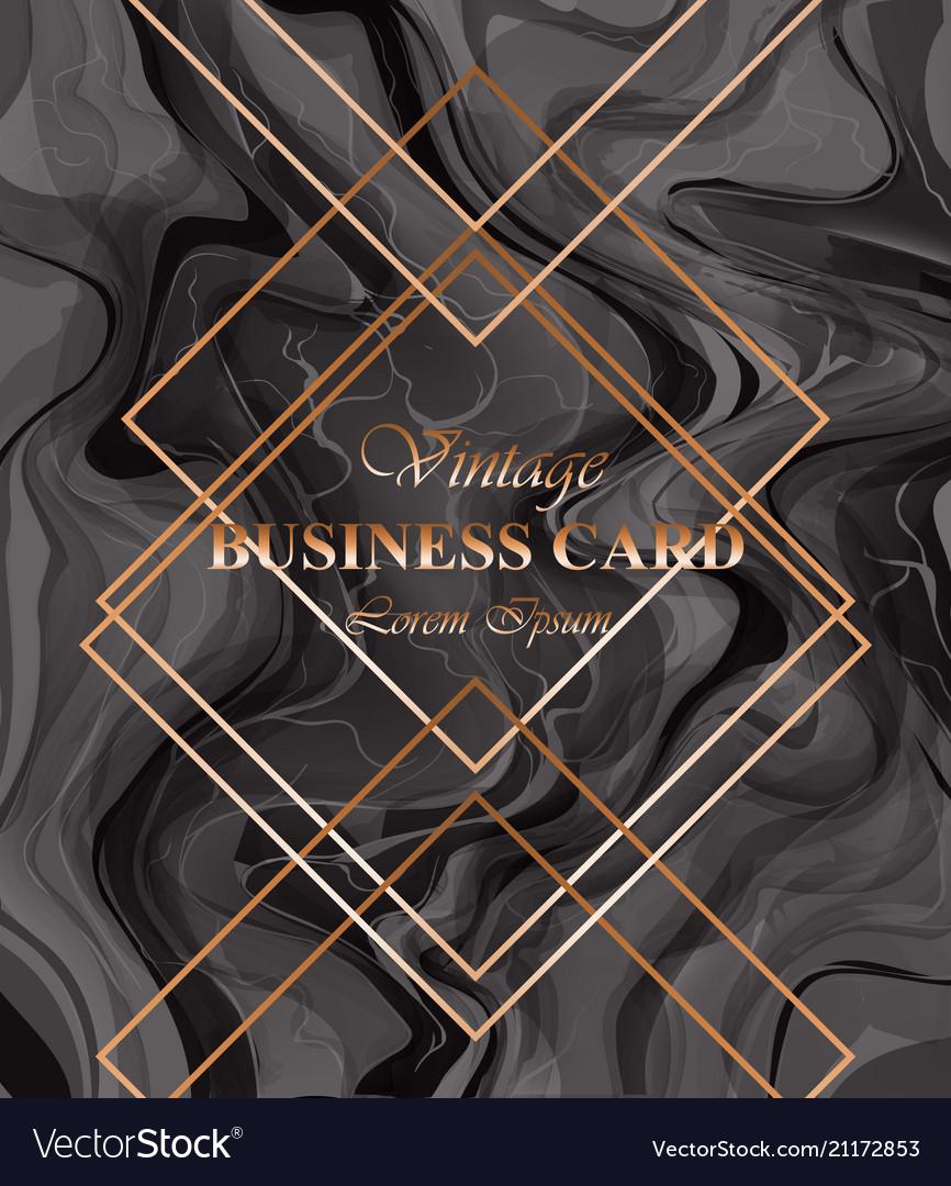 Business card background dark color golden