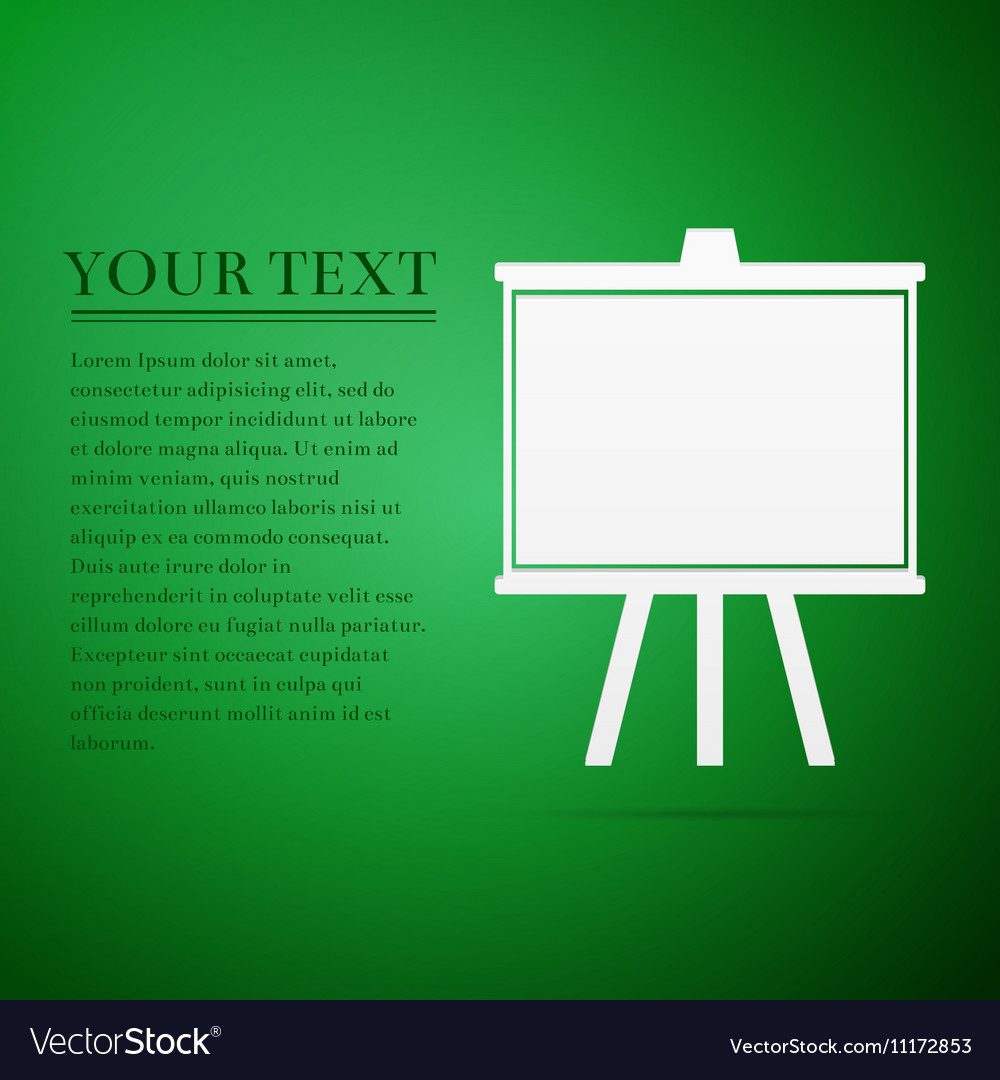 Chalkboards flat icon on green background
