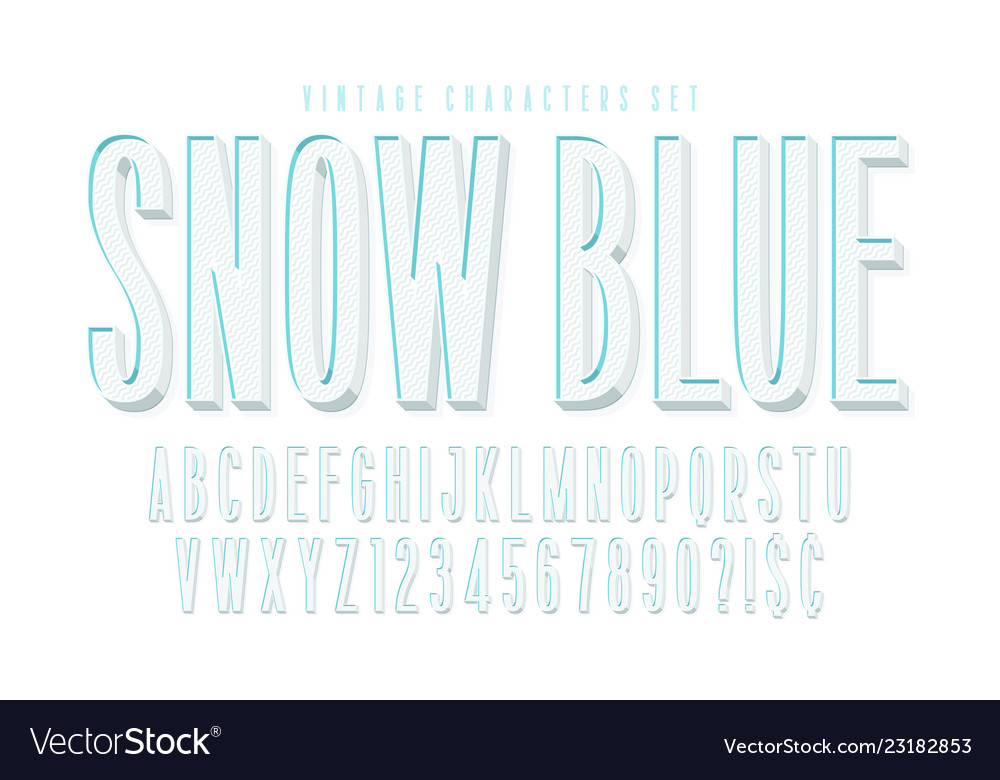 Condensed comical 3d display font design alphabet