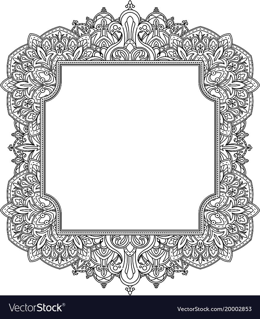 Ethnic template for design wedding invitations Vector Image