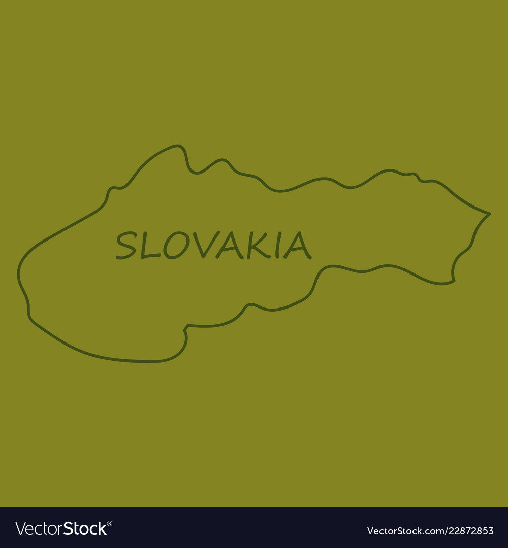 Flag map of slovakia