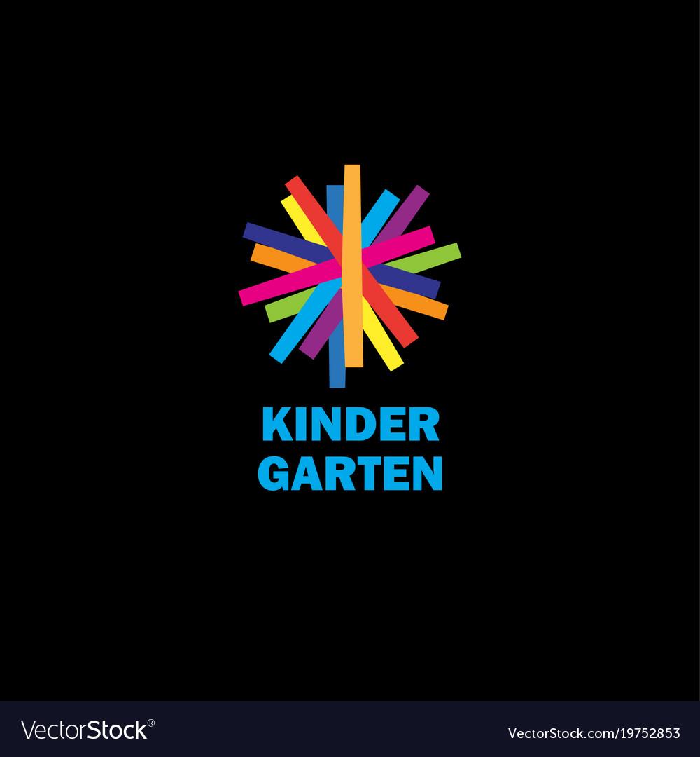 Kids flat color emblem