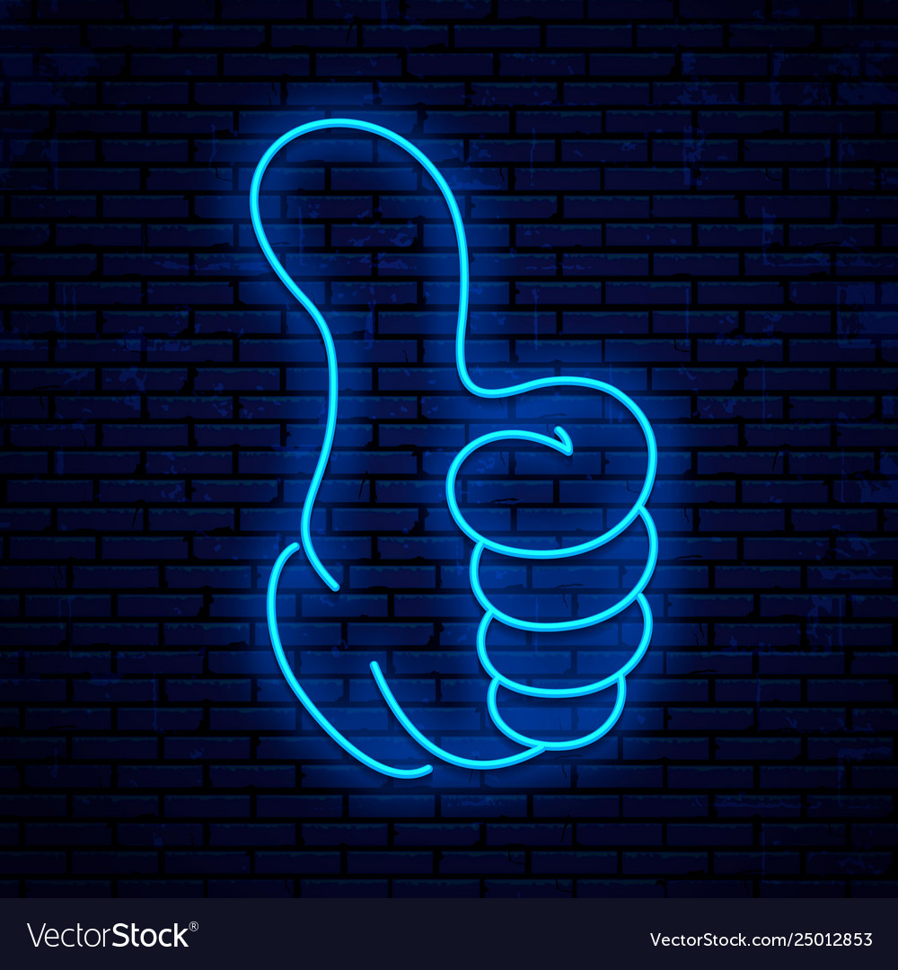 Neon sign thumb up