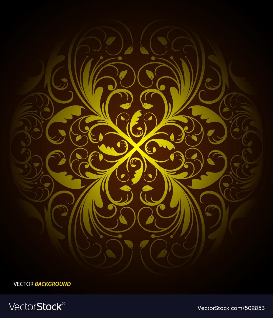Seamless floral wallpaper pattern black