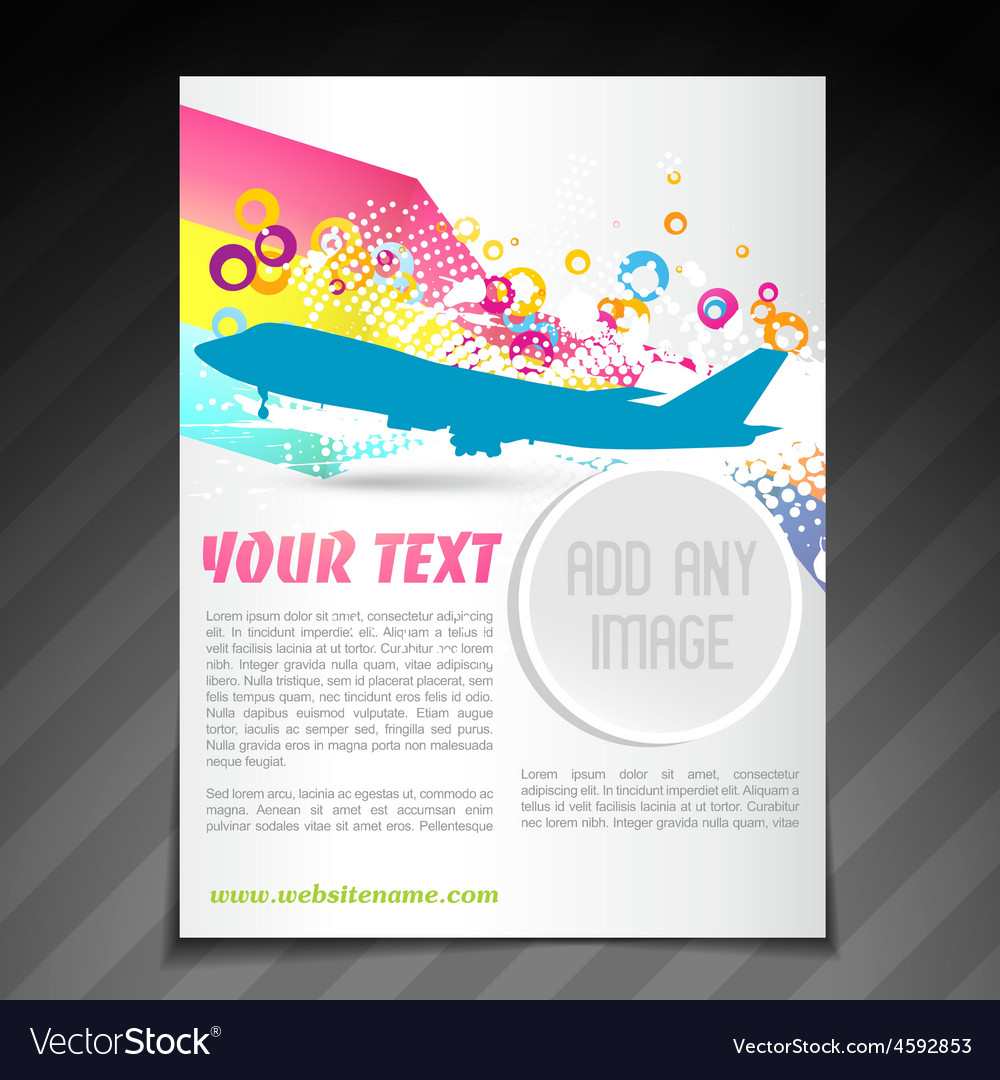Travel brochure flyer template design